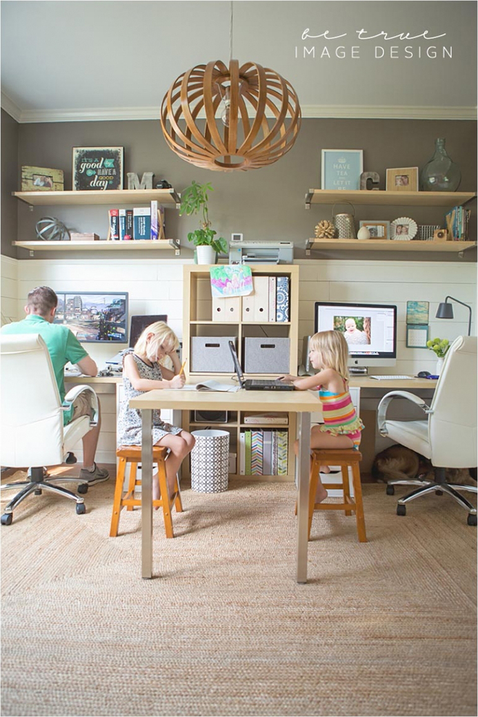 Home office katie saunders design Shared office space design