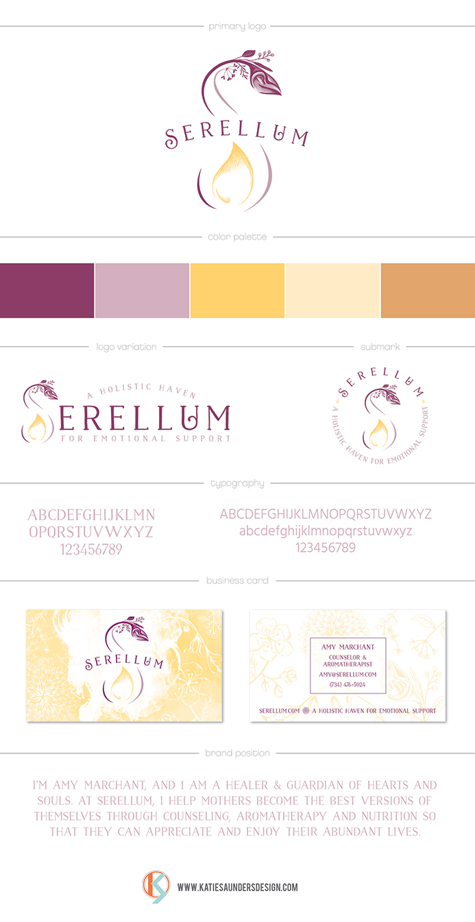 aromatherpy holistic wellness branding board design and strategy
